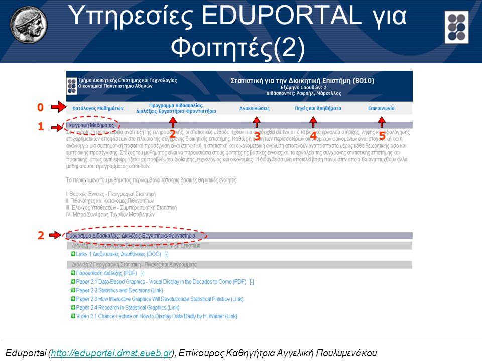 Υπηρεσίες EDUPORTAL για Φοιτητές(2)