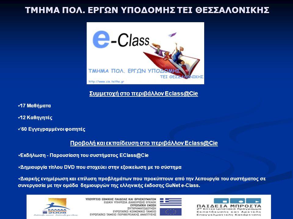 Συμμετοχή στο περιβάλλον Eclass@Cie