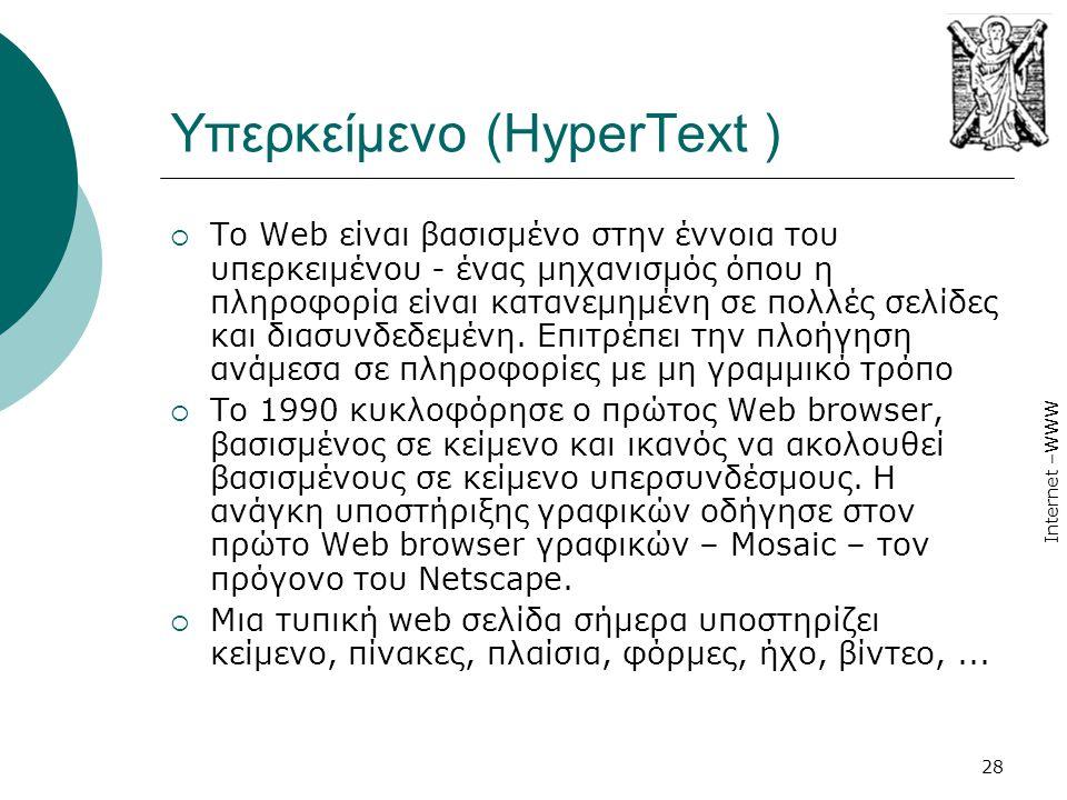 Υπερκείμενο (HyperText )