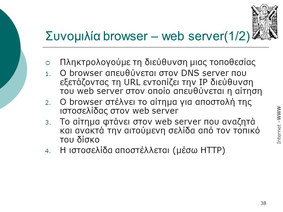 Συνοµιλία browser – web server(1/2)