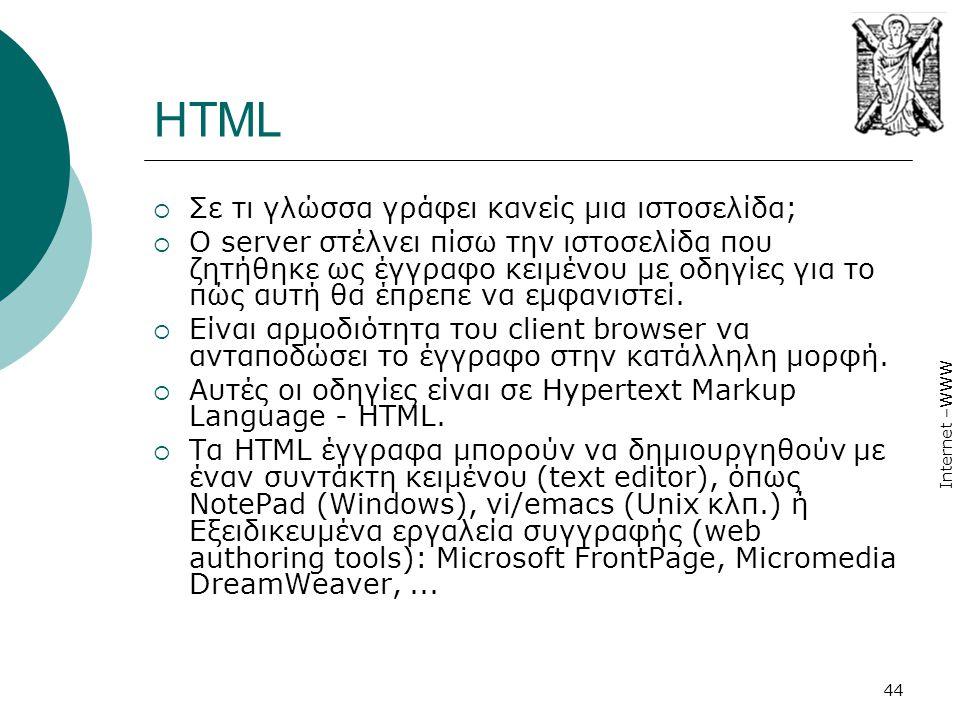 HTML Σε τι γλώσσα γράφει κανείς μια ιστοσελίδα;