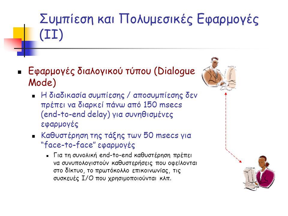 Συμπίεση και Πολυμεσικές Εφαρμογές (ΙΙ)