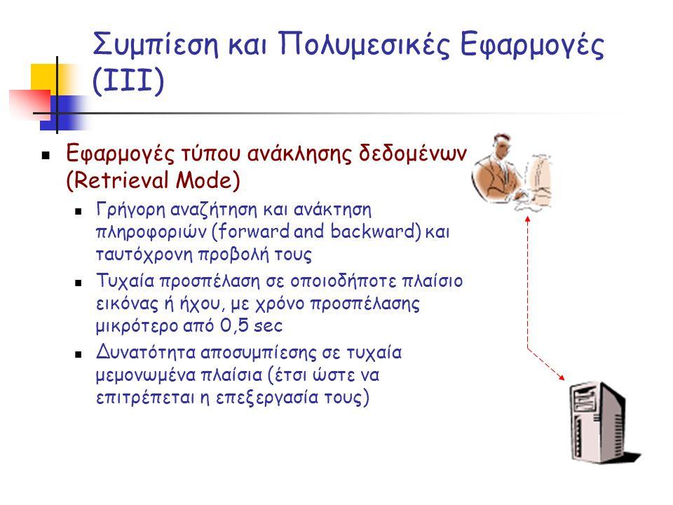 Συμπίεση και Πολυμεσικές Εφαρμογές (ΙΙΙ)
