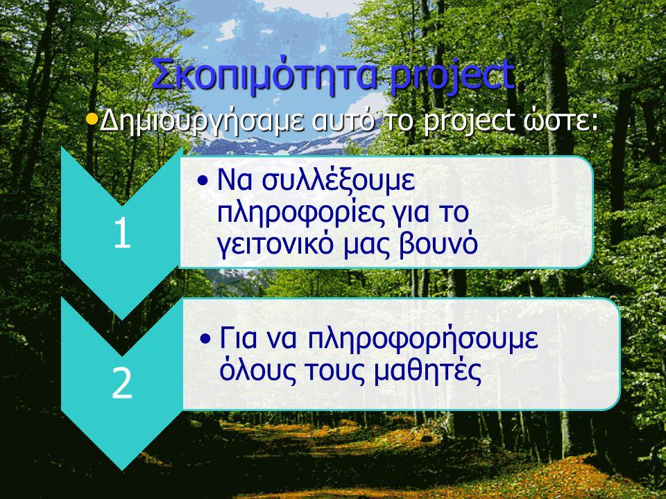 Δημιουργήσαμε αυτό το project ώστε: