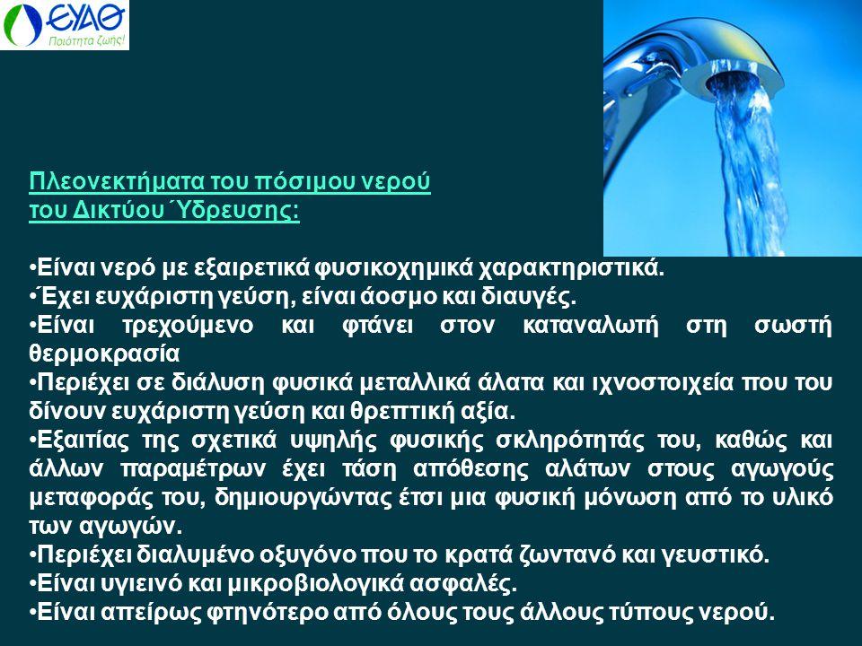 Πλεονεκτήματα του πόσιμου νερού