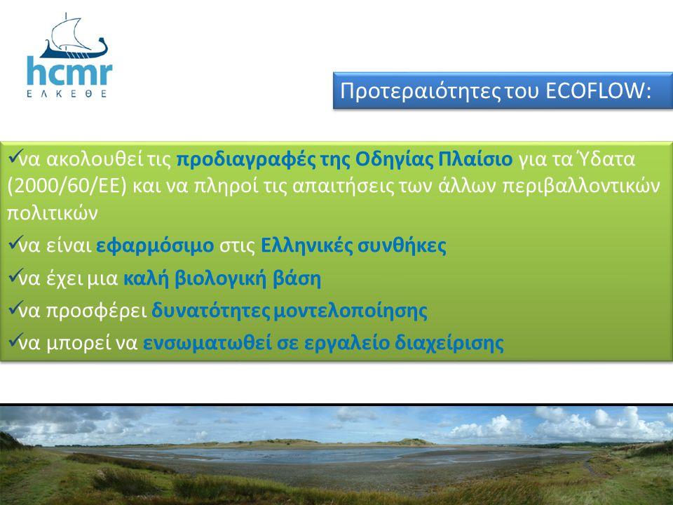 Προτεραιότητες του ECOFLOW: