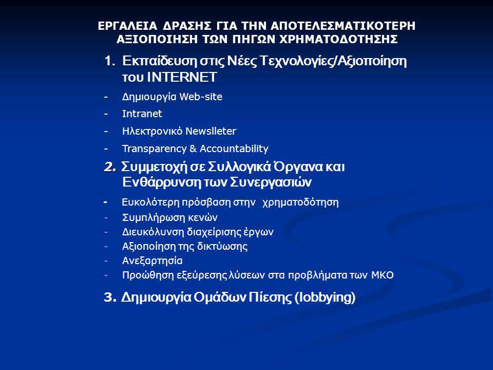 Εκπαίδευση στις Νέες Τεχνολογίες/Αξιοποίηση του ΙNTERNET