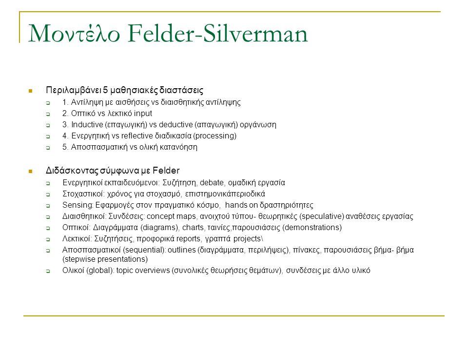 Μοντέλο Felder-Silverman