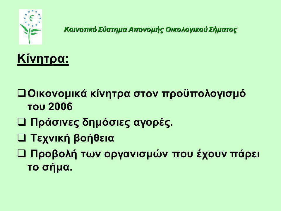 Κίνητρα: Οικονομικά κίνητρα στον προϋπολογισμό του 2006