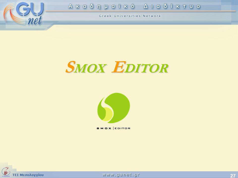 SMOX EDITOR
