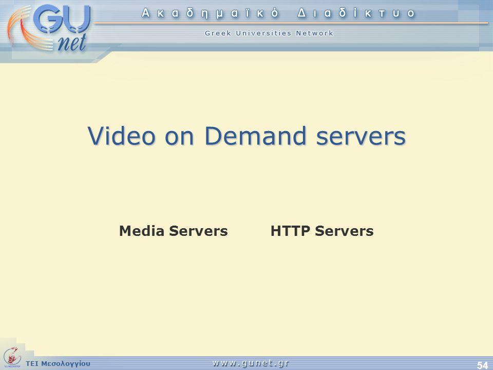 Video on Demand servers