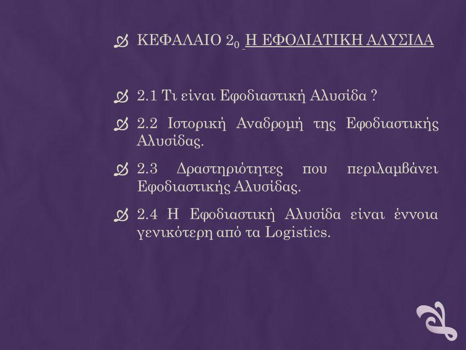 ΚΕΦΑΛΑΙΟ 20 Η ΕΦΟΔΙΑΤΙΚΗ ΑΛΥΣΙΔΑ
