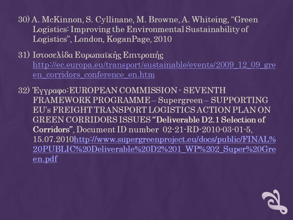 30) A. McKinnon, S. Cyllinane, M. Browne, A