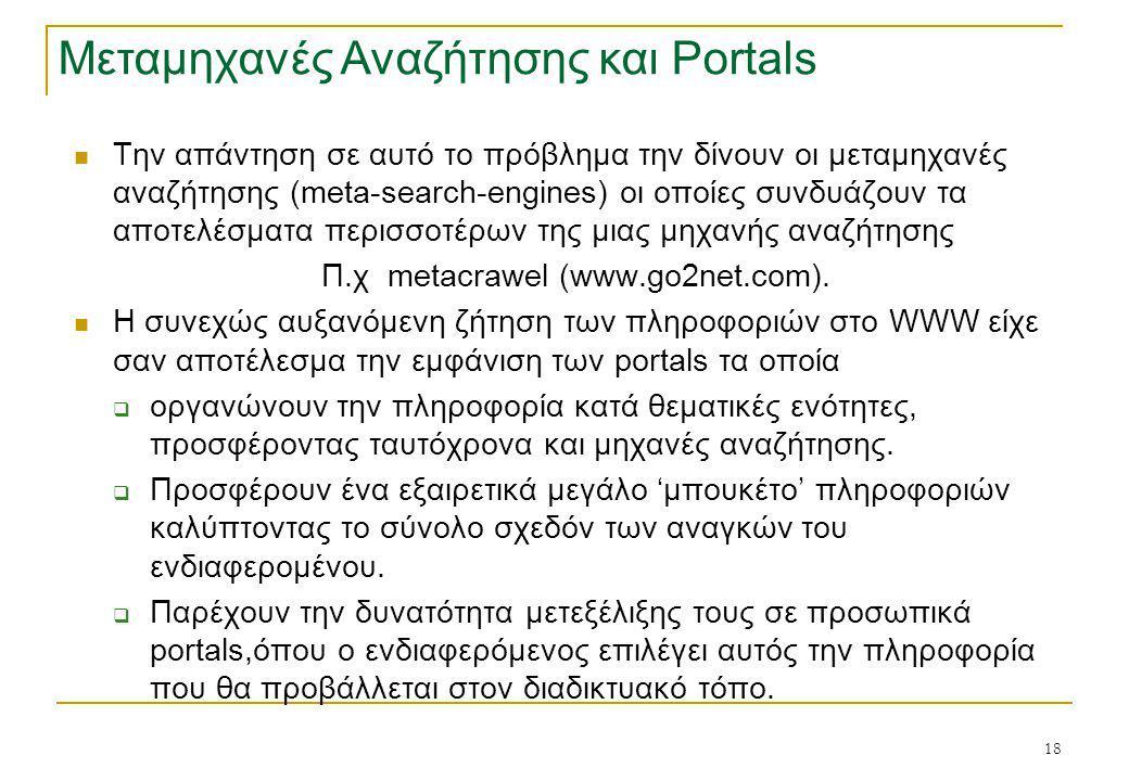 Π.χ metacrawel (www.go2net.com).