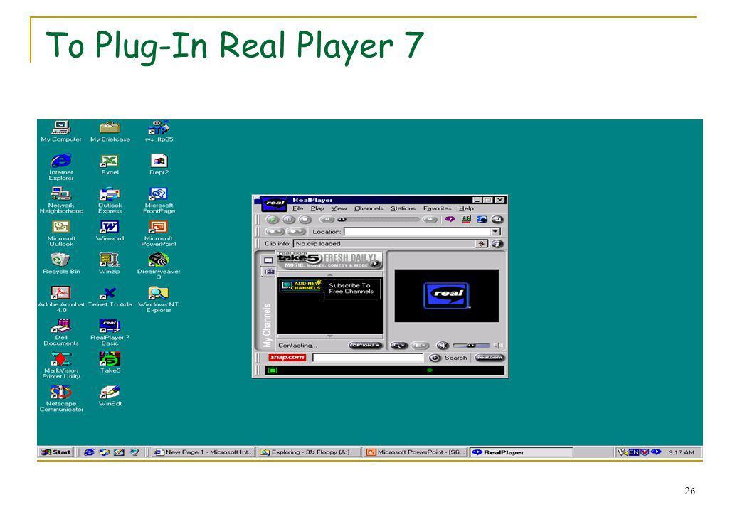 Το Plug-In Real Player 7