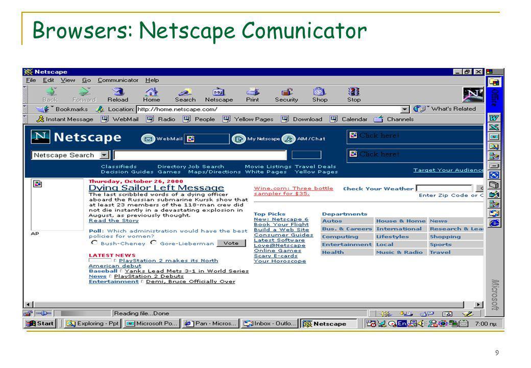 Browsers: Netscape Comunicator