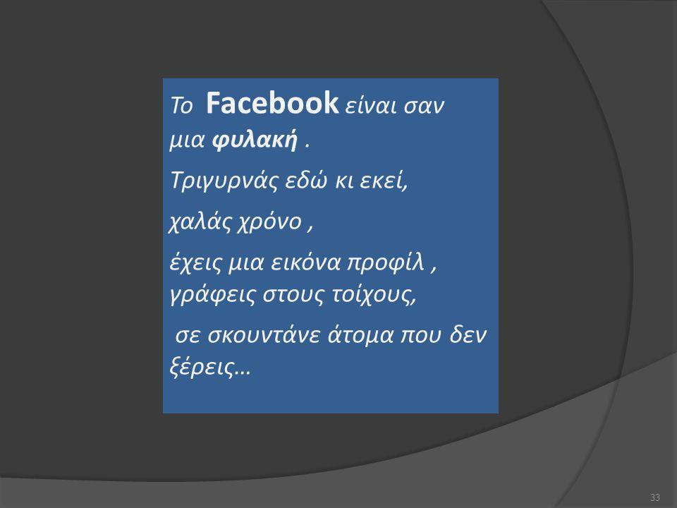 Το Facebook είναι σαν μια φυλακή
