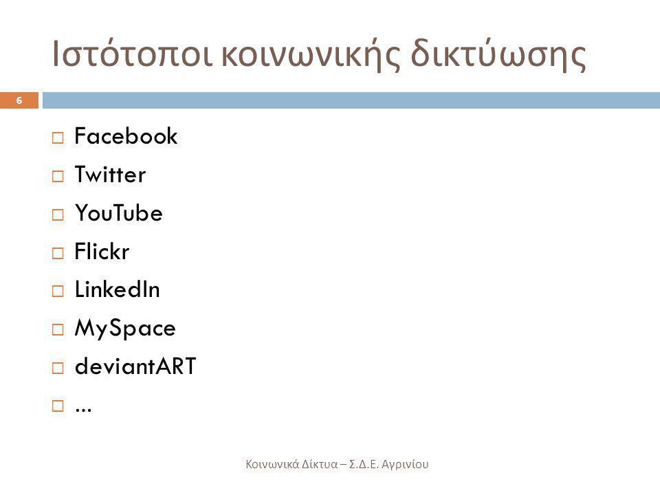 Ιστότοποι κοινωνικής δικτύωσης
