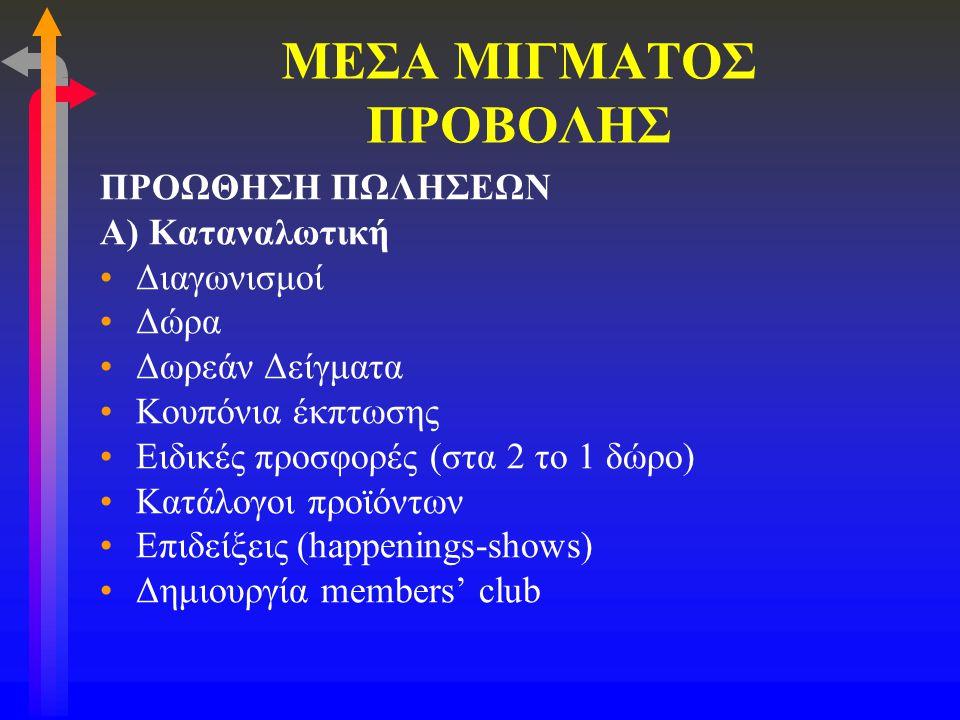 ΜΕΣΑ ΜΙΓΜΑΤΟΣ ΠΡΟΒΟΛΗΣ