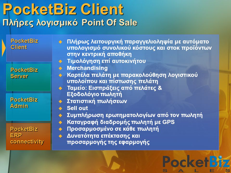 PocketBiz Client Πλήρες λογισμικό Point Of Sale