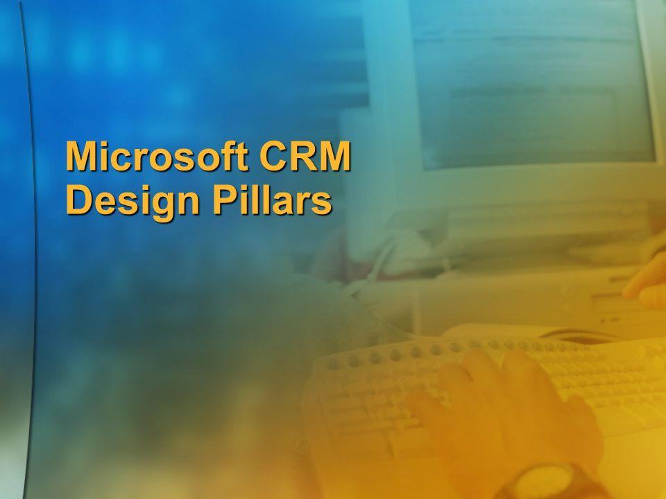 Microsoft CRM Design Pillars