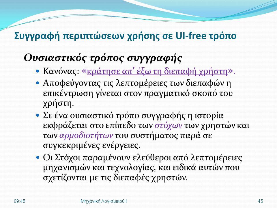 Συγγραφή περιπτώσεων χρήσης σε UI-free τρόπο