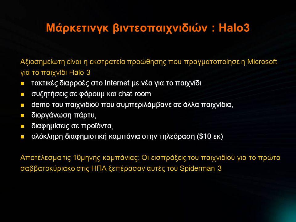 Μάρκετινγκ βιντεοπαιχνιδιών : Halo3