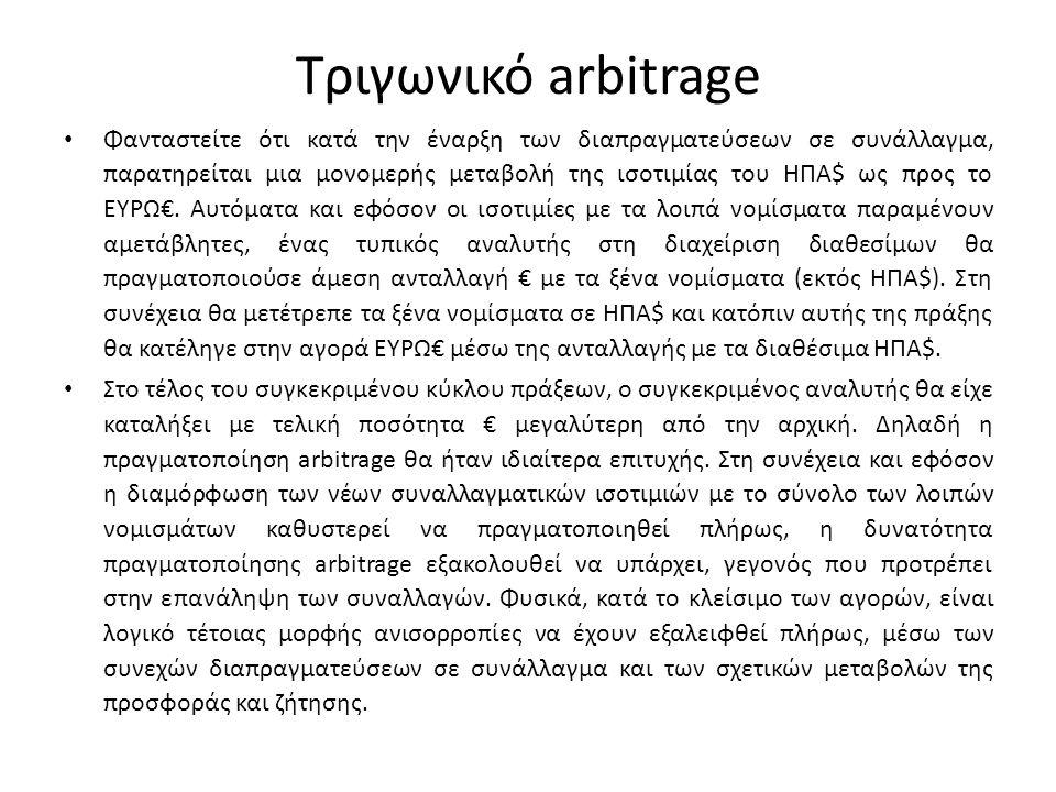 Τριγωνικό arbitrage