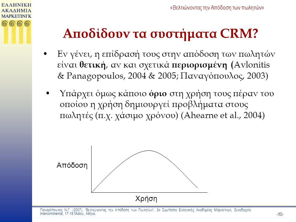 Αποδίδουν τα συστήματα CRM