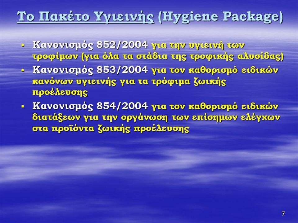 Το Πακέτο Υγιεινής (Hygiene Package)