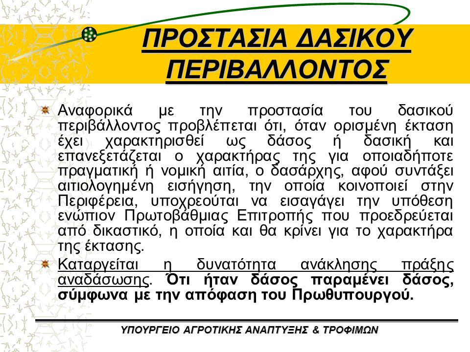 ΠΡΟΣΤΑΣΙΑ ΔΑΣΙΚΟΥ ΠΕΡΙΒΑΛΛΟΝΤΟΣ