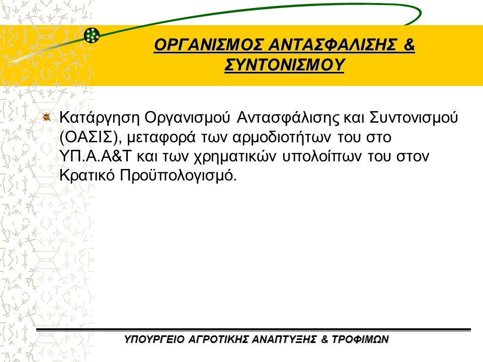ΟΡΓΑΝΙΣΜΟΣ ΑΝΤΑΣΦΑΛΙΣΗΣ & ΣΥΝΤΟΝΙΣΜΟΥ