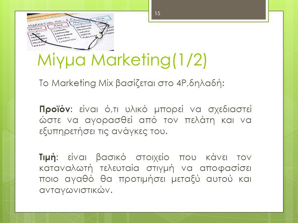Μίγμα Marketing(1/2)