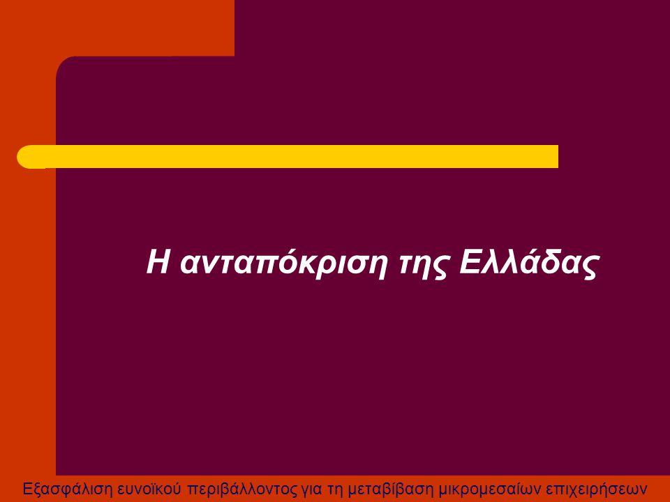 Η ανταπόκριση της Ελλάδας
