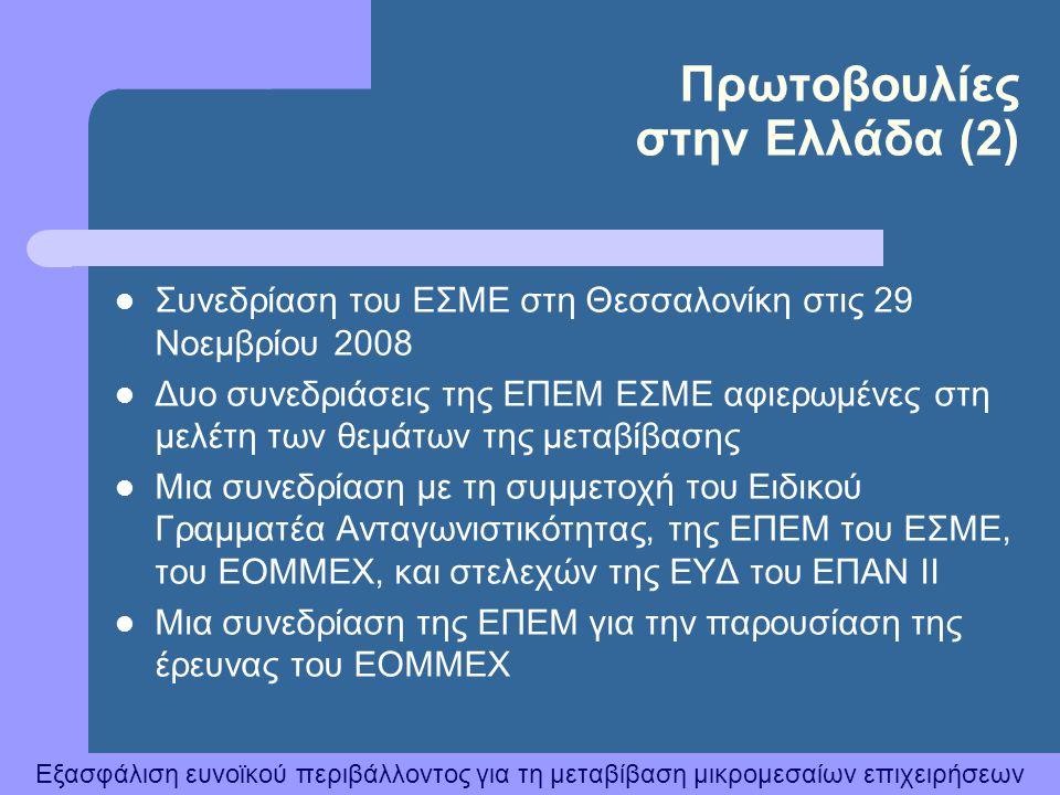 Πρωτοβουλίες στην Ελλάδα (2)