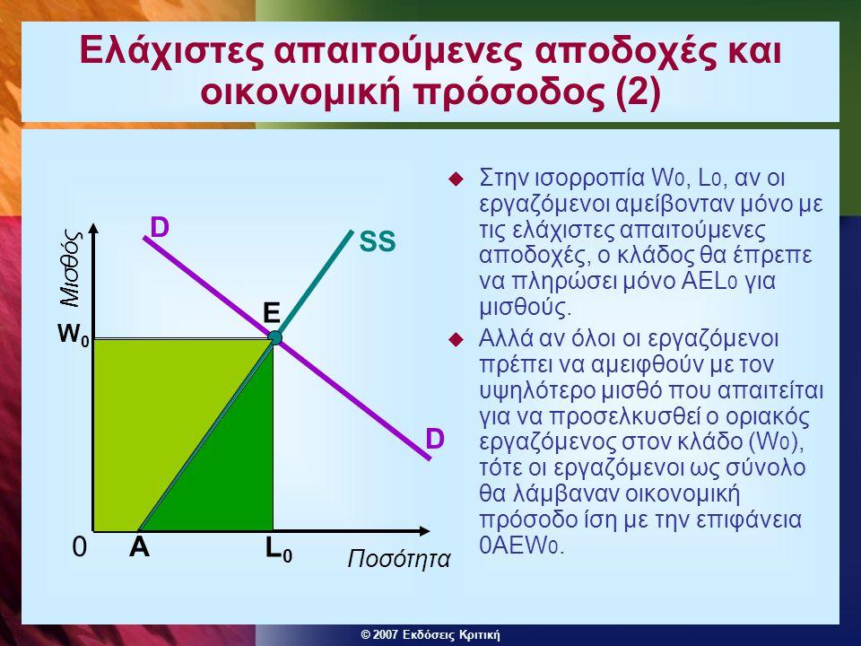 Ελάχιστες απαιτούμενες αποδοχές και οικονομική πρόσοδος (2)