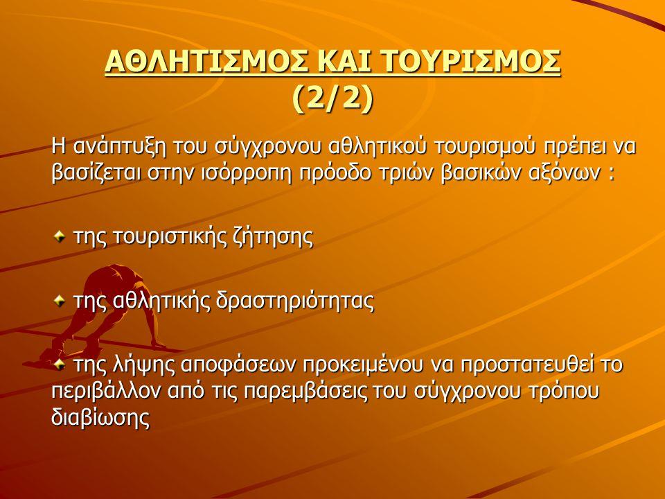 ΑΘΛΗΤΙΣΜΟΣ ΚΑΙ ΤΟΥΡΙΣΜΟΣ (2/2)