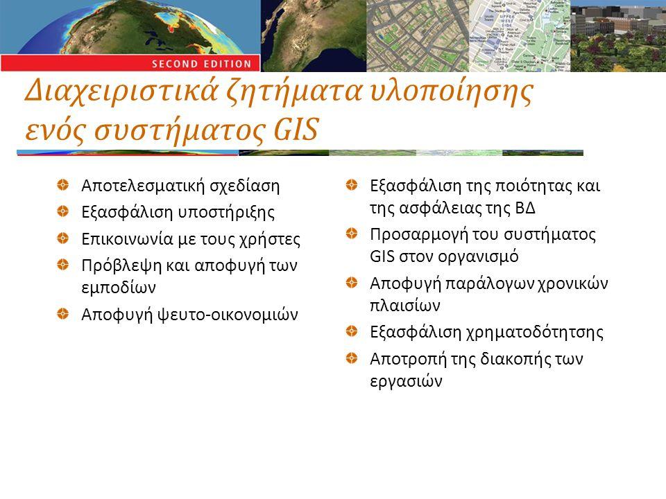 Διαχειριστικά ζητήματα υλοποίησης ενός συστήματος GIS