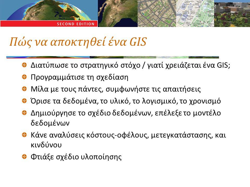Πώς να αποκτηθεί ένα GIS