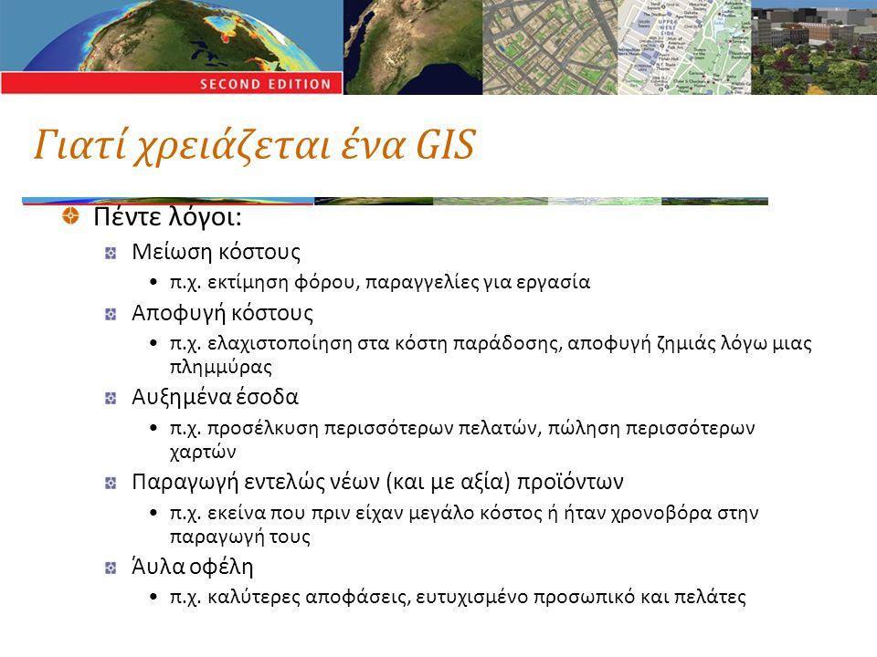 Γιατί χρειάζεται ένα GIS