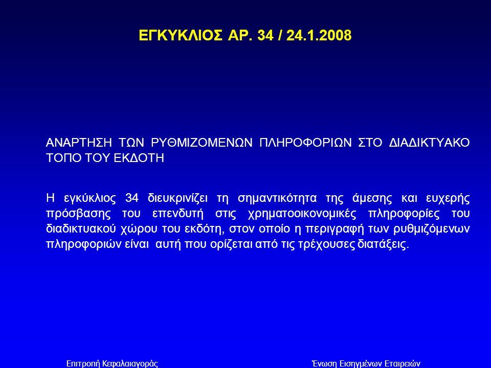Επιτροπή Κεφαλαιαγοράς Ένωση Εισηγμένων Εταιρειών