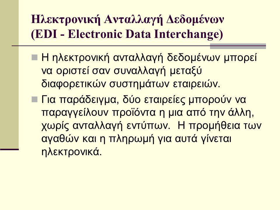 Ηλεκτρονική Ανταλλαγή Δεδομένων (EDI - Electronic Data Interchange)