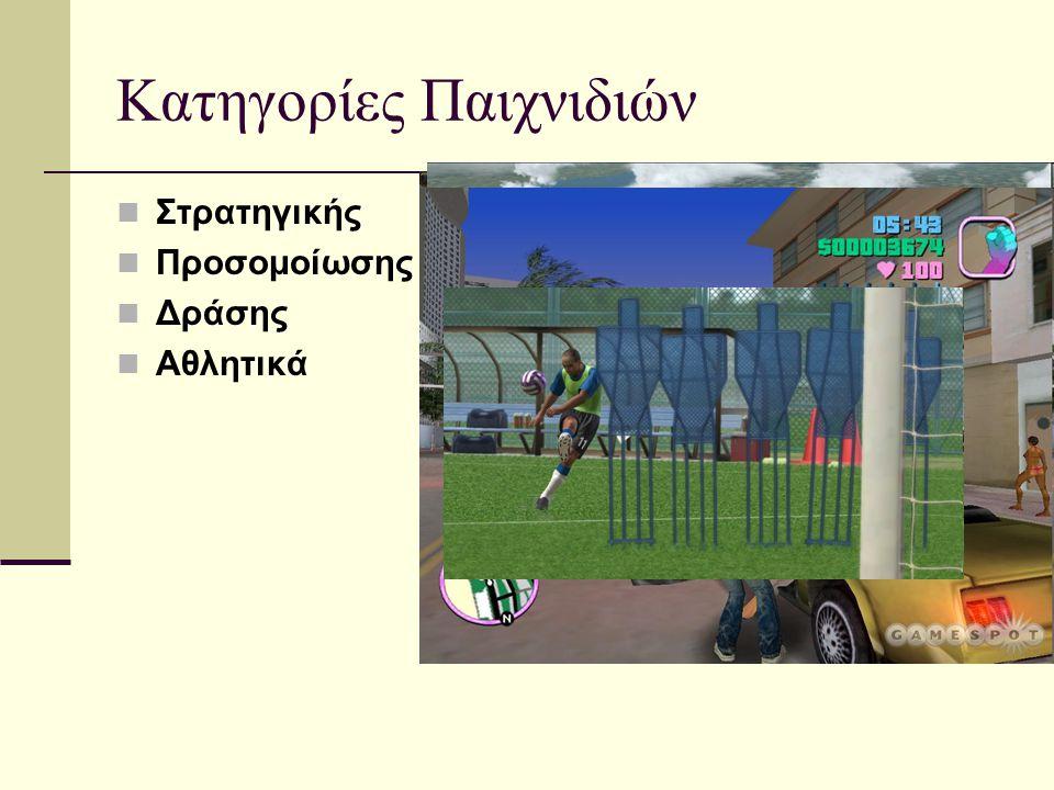 Κατηγορίες Παιχνιδιών