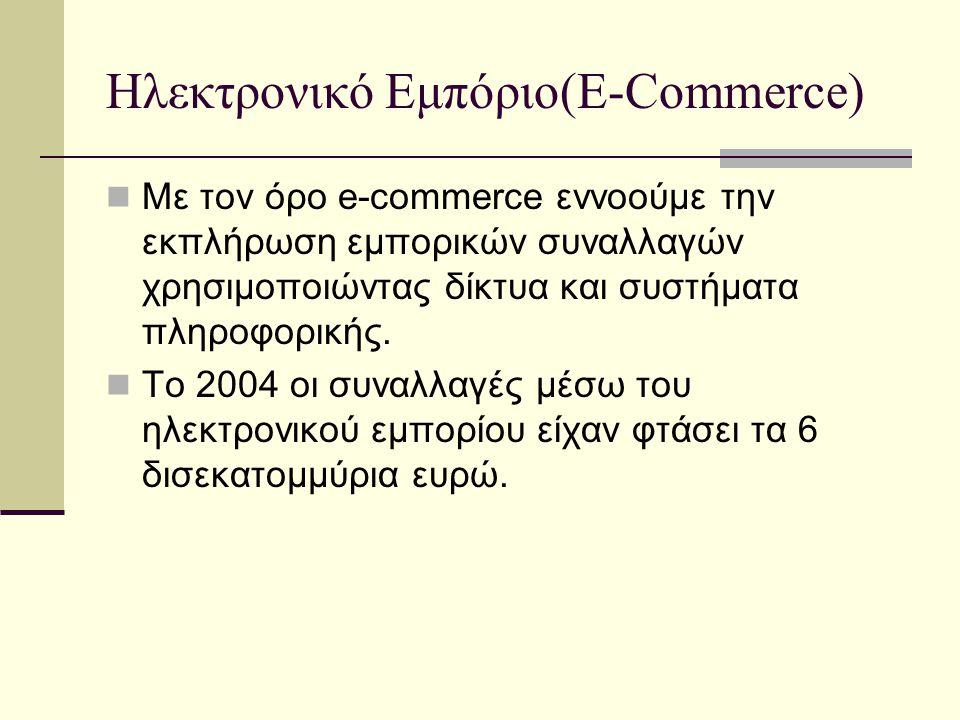 Ηλεκτρονικό Εμπόριο(E-Commerce)