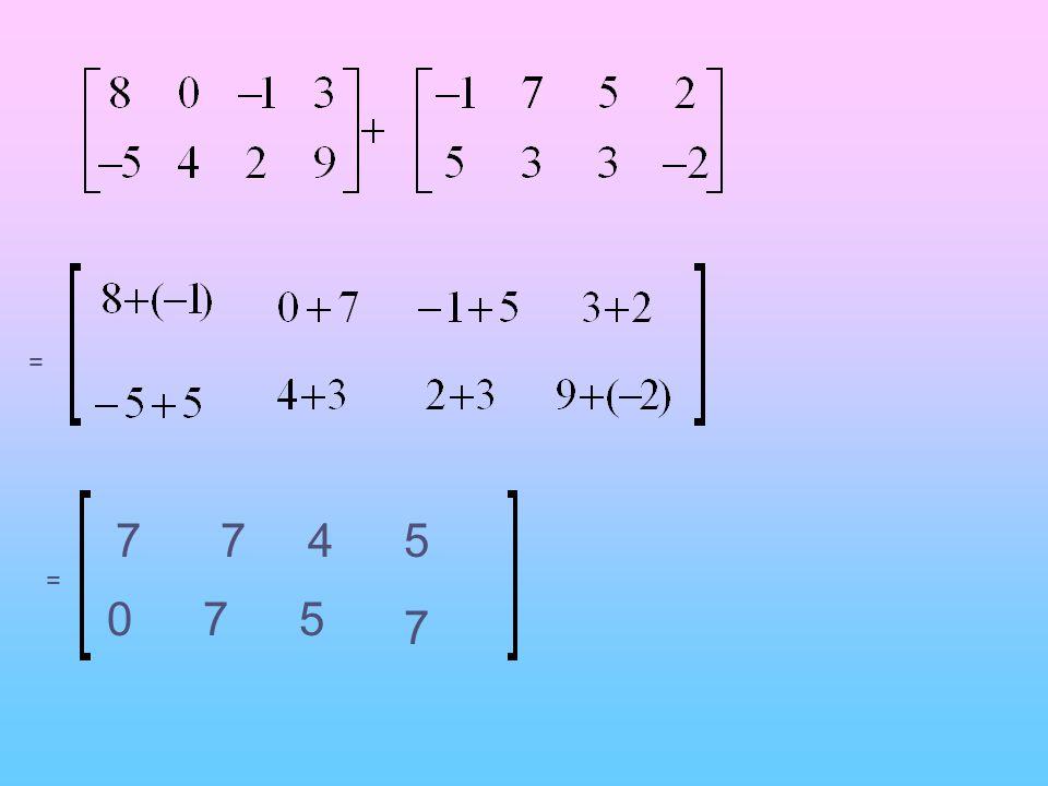 = 7 7 4 5 = 7 5 7