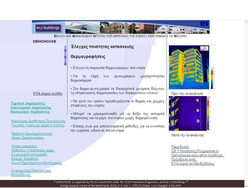 Έλεγχος ποιότητας κατασκευής Θερμογραφήσεις