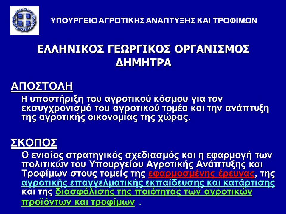 ΕΛΛΗΝΙΚΟΣ ΓΕΩΡΓΙΚΟΣ ΟΡΓΑΝΙΣΜΟΣ ΔΗΜΗΤΡΑ