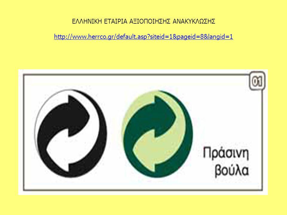 ΕΛΛΗΝΙΚΗ ΕΤΑΙΡΙΑ ΑΞΙΟΠΟΙΗΣΗΣ ΑΝΑΚΥΚΛΩΣΗΣ http://www.herrco.gr/default.asp siteid=1&pageid=8&langid=1