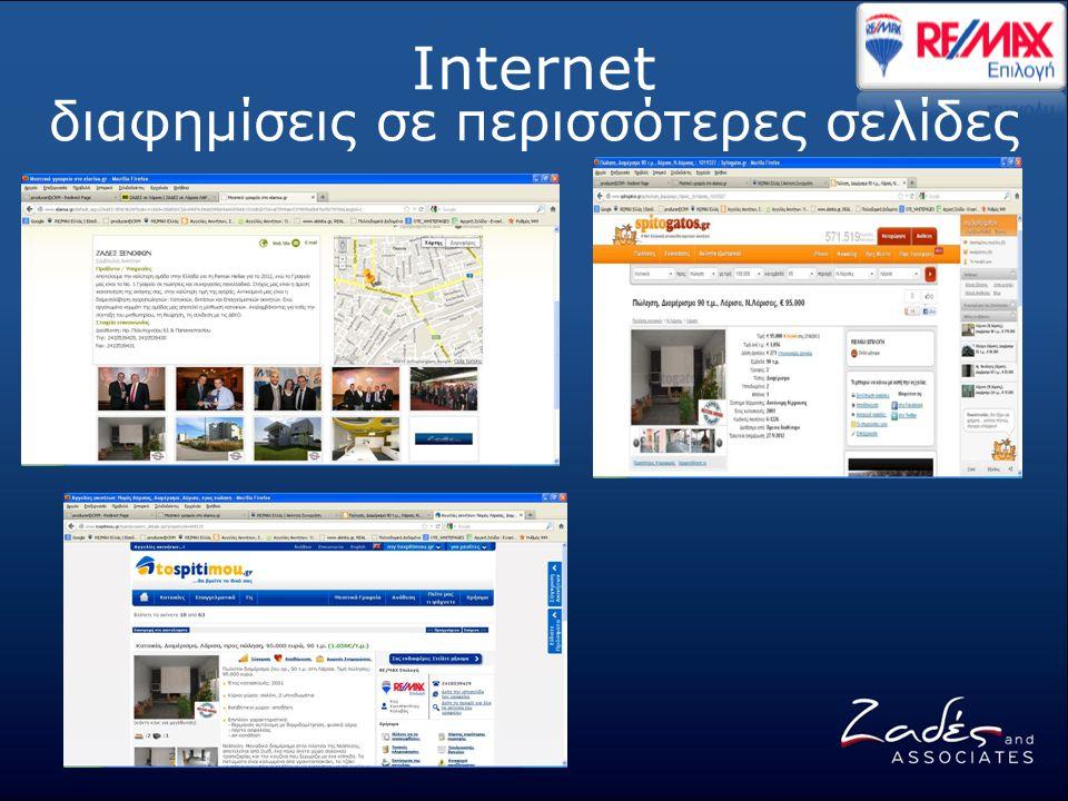 Internet διαφημίσεις σε περισσότερες σελίδες