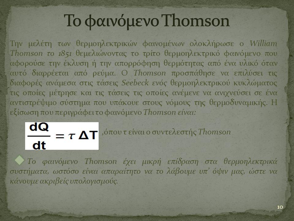 Το φαινόμενο Thomson